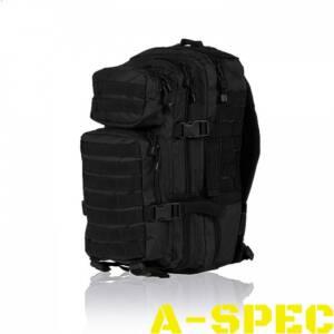 Рюкзак тактический 20 литров черный. Miltec.