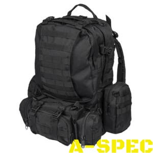 Рюкзак штурмовой DEFENSE PACK ASSEMBLY черный Miltec