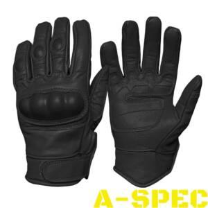 Перчатки тактические кожаные Leder черные Miltec