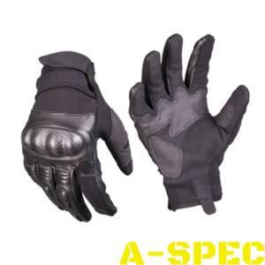 Перчатки тактические LEDER GEN.II черные. Miltec