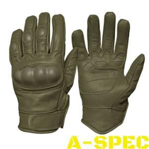 Перчатки тактические кожаные Leder хаки. Miltec