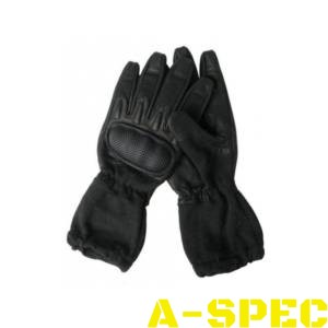 Перчатки тактические удлиненные огнеупорные черные. Miltec