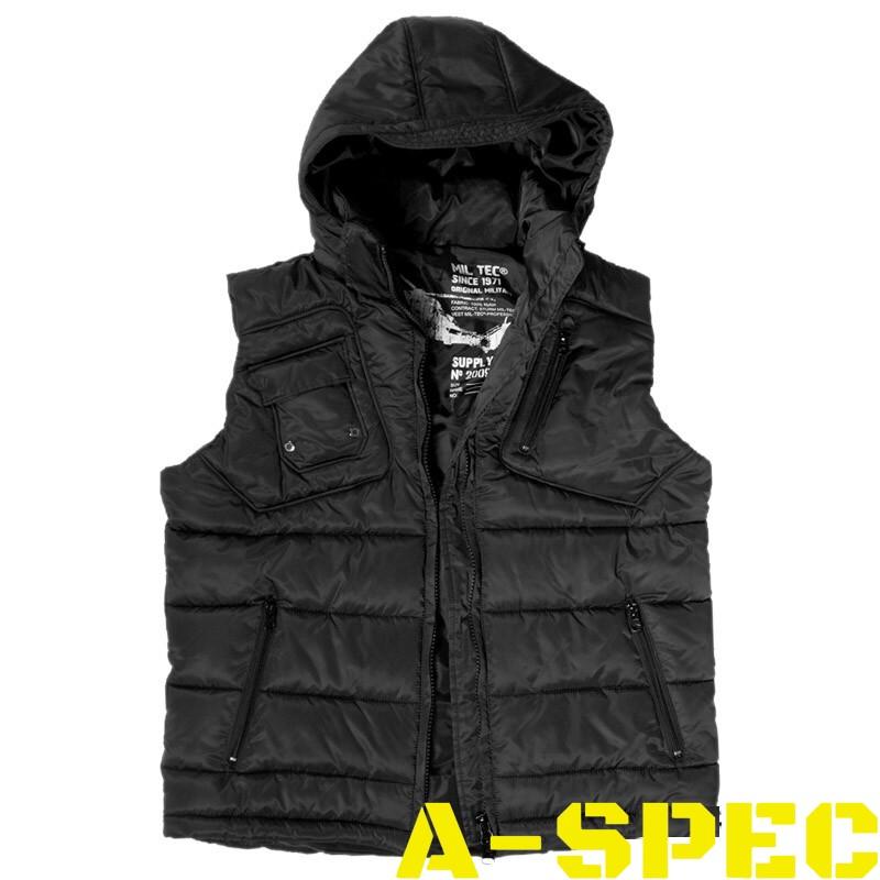 4415267f Куртка без рукавов PRO VEST с капюшоном, черная – A-SPEC