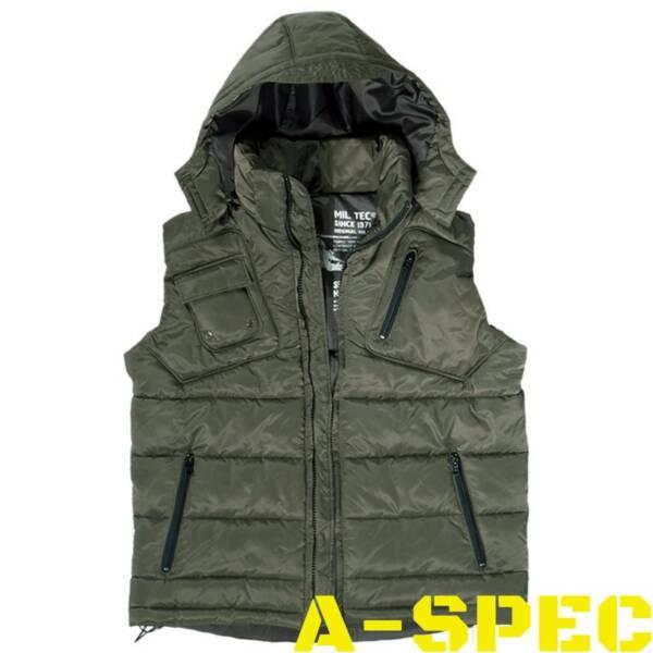 Куртка без рукавов PRO VEST с капюшоном, олива.