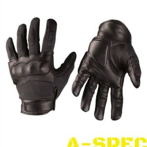 Перчатки тактические кевларовые Leder Черные