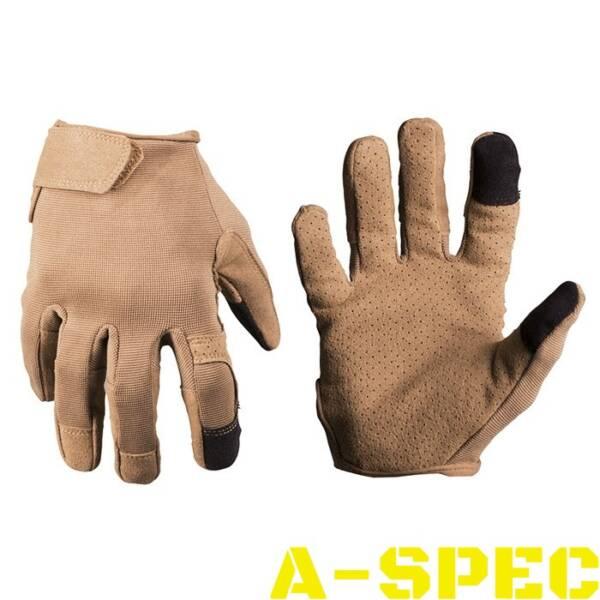 Тактические перчатки TOUCH койот. Miltec