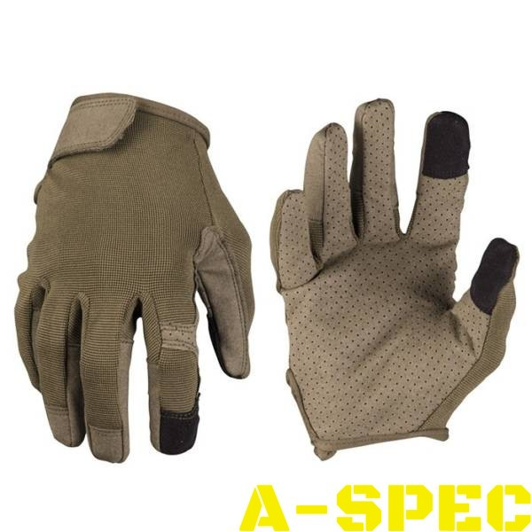 Тактические перчатки TOUCH олива. Miltec