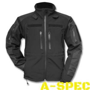 Тактическая куртка Softshell Jacket MT-Plus черная