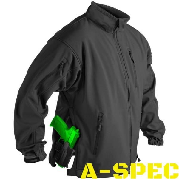 Куртка тактическая Jackal Soft Shell черная. Helikon-tex
