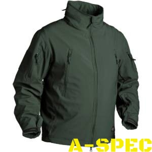 Куртка тактическая Gunfighter Soft Shell Jungle Green. Helikon-tex
