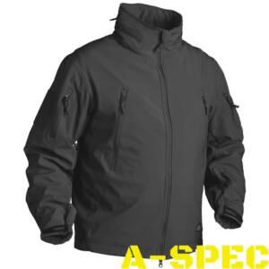Куртка тактическая Gunfighter Soft Shell черная. Helikon-tex