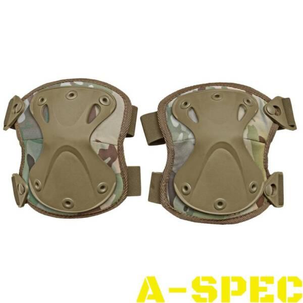 Наколенники защитные тактические Х - образные multicam