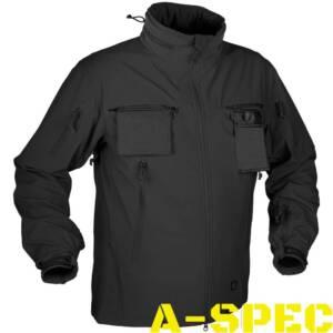 Куртка тактическая Cougar Soft Shell QSA чёрная. Helikon-tex