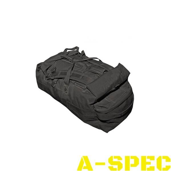 Британская транспортная сумка-рюкзак черная. 100 литров