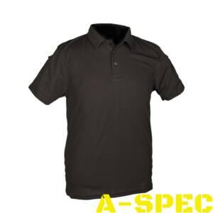 Тактическая футболка Polo черное. Miltec
