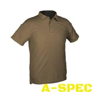 Тактическая футболка Polo олива. Miltec