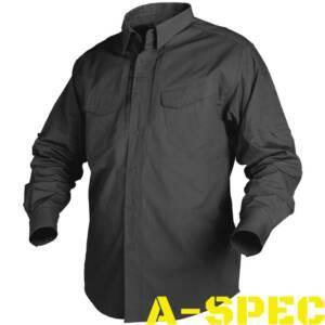 Рубашка тактическая Defender Long черная. Helikon