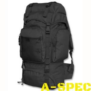 Рюкзак COMMANDO черный. Объем 55 литров