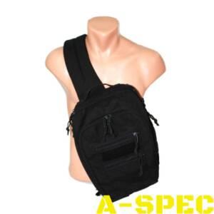 Тактическая плечевая сумка А46. Скрытая кобура. A-Line