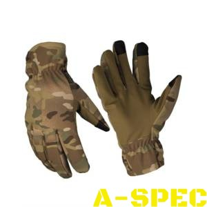 Перчатки сенсорные зимние SOFTSHELL THINSULATE Multicam