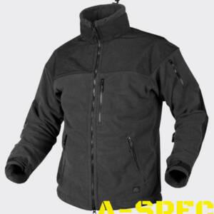 Куртка с мембраной CLASSIC ARMY FLEECE черная. Helikon-tex