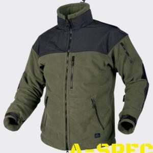 Куртка с мембраной CLASSIC ARMY FLEECE олива-черная. Helikon-tex