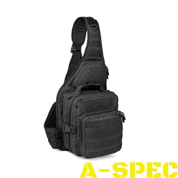 Однолямочный рюкзак Red Rock Recon Sling Pack. Черный