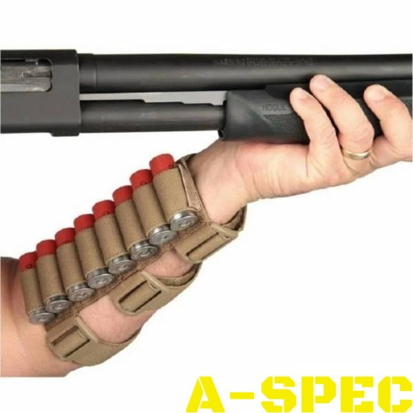 Наручный патронташ хаки на 8 патронов 12 калибр