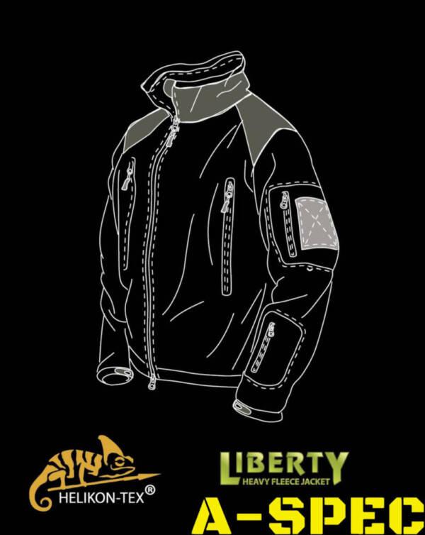 Куртка флисовая Liberty Fleece Multicam. Helikon-Tex