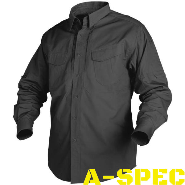 Рубашка тактическая Defender Long черная MK2. Helikon