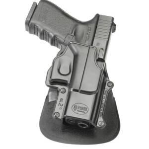 Кобура пластиковая Fobus с поясным фиксатором Glock 26/27/28/33