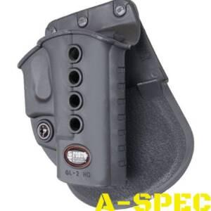 Кобура пластиковая Fobus поворотная для Glock 17/19 с поясным фиксатором