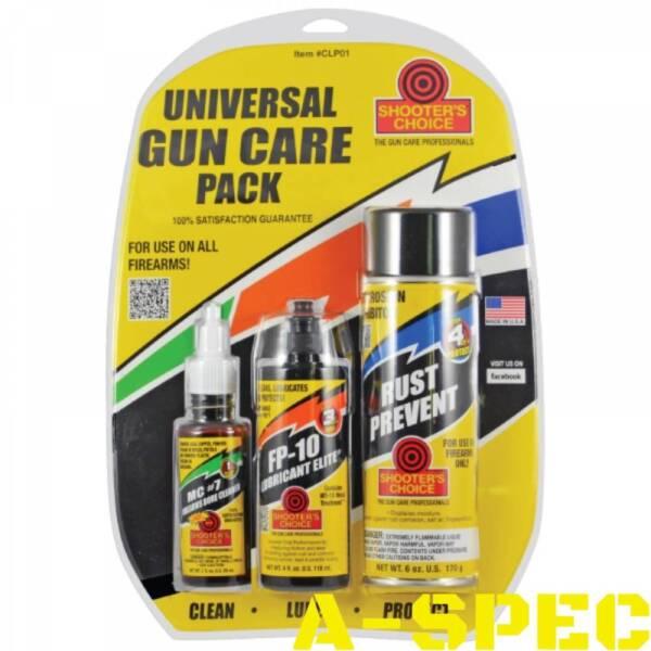 Набор средств для чистки Shooters Choice Universal Gun Care Pack (3 наименования)