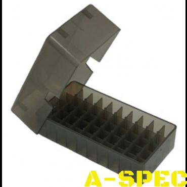 Коробка для патронов MTM кал 9мм 38 Spec 50 шт Дымчатый
