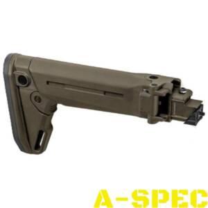Приклад Magpul Zhukov-S Stock АК47/74 олива - это усовершенствованный складной телескопический приклад для семейства АК, изготовлен из легкого армированного полимера, подходит к большинству штампованных ствольных коробок АК-47/АКМ/АК-74 с нескладным прикладом.