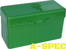 Коробка MTM RM-60 на 60 патронов кал. 222-250 Rem; 243 Win; 7,62x39 и 308 Win. Цвет – зеленый.