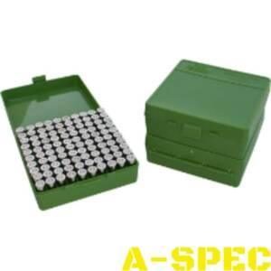Коробка для патронов MTM кал 7,62x25 5,7x28 357 Mag зеленый