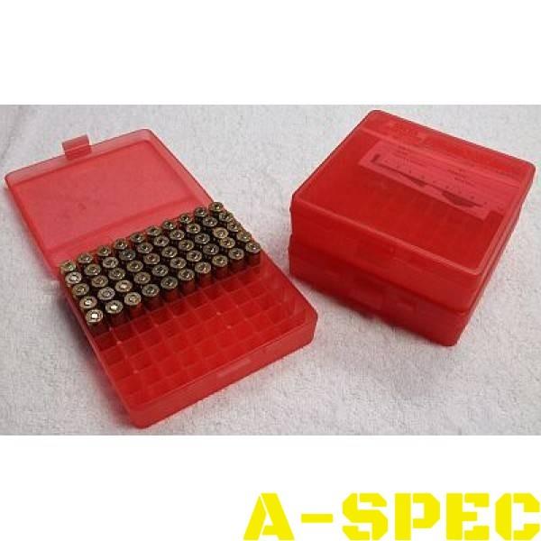 Коробка для патронов MTM кал 45 ACP 10мм Auto 40 S&W100 шт красный