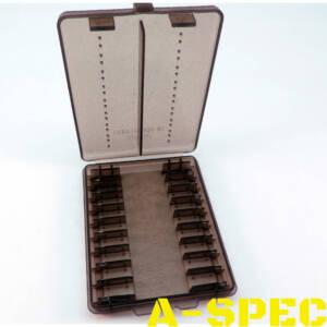 Коробка для патронов MTM кал 9мм 380 ACP 18 шт дымчатый