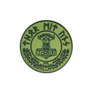 Нашивка Thor Mit Uns зеленая резиновая ПВХ
