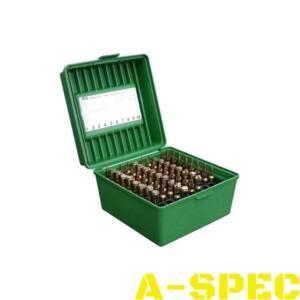 Коробка MTM R-100 на 100 патронов кал 22-250 Rem