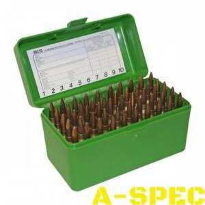 Коробка MTM RS-50 на 50 патронов кал. 222 Rem и 223 Rem