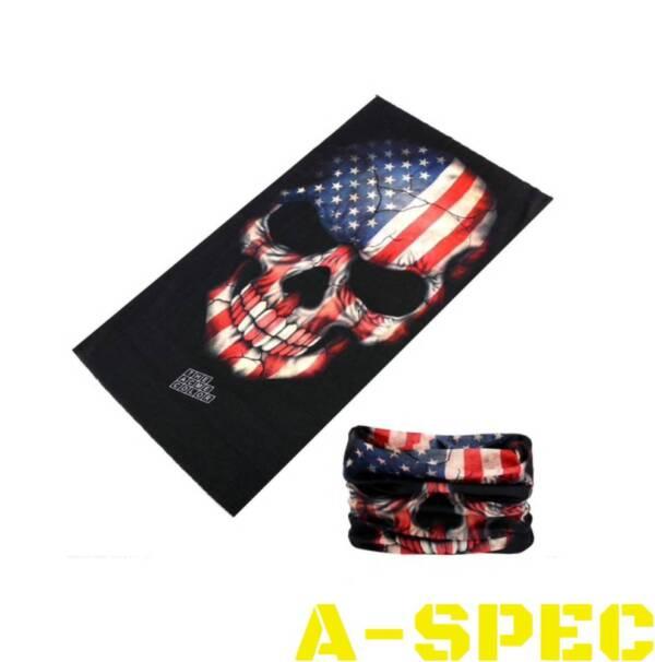 Бафф с черепом расцветки флага США