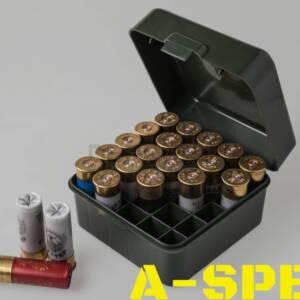 Коробка MTM Dual Gauge Shotshell Case универсальная на 25 патронов 12/16/20 кал Цвет – зеленый