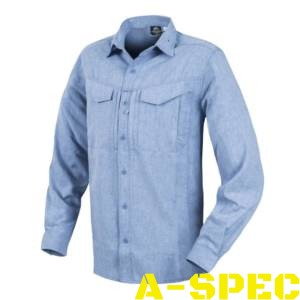Рубашка defender mk 2 gentleman shirt melange Light Blue