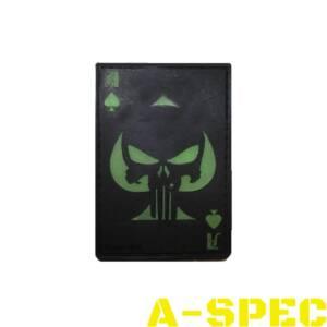 Патч резиновый Punisher череп пиковый туз флуоресцентый