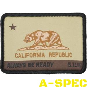 Шеврон 5.11 CA STATE BEAR PATCH