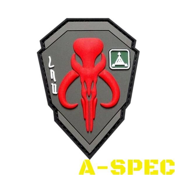 Морал патч Bounty Hunters Mandalorian Red