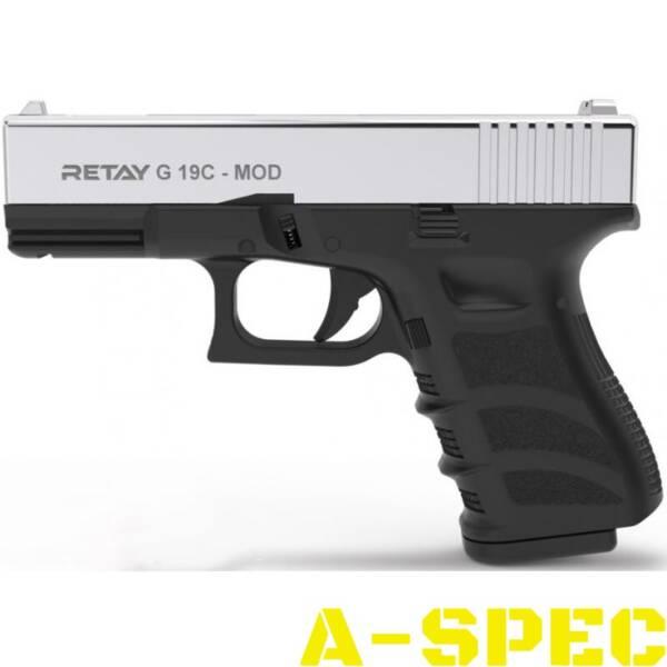 Пистолет стартовый Retay G 19C кал 9 мм